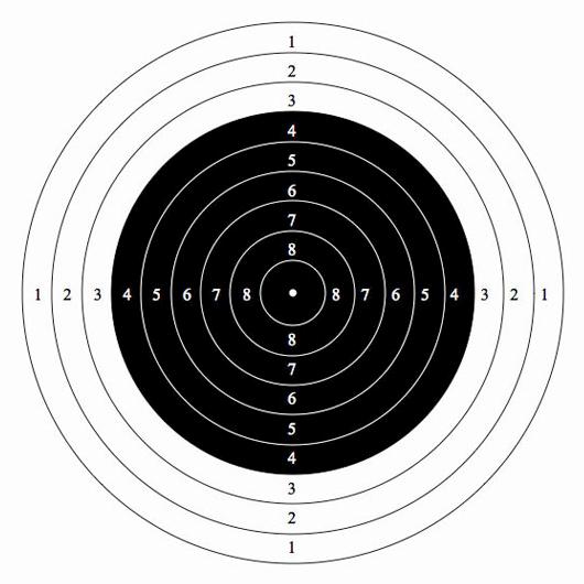 Бланк мишени для стрельбы из пневматики