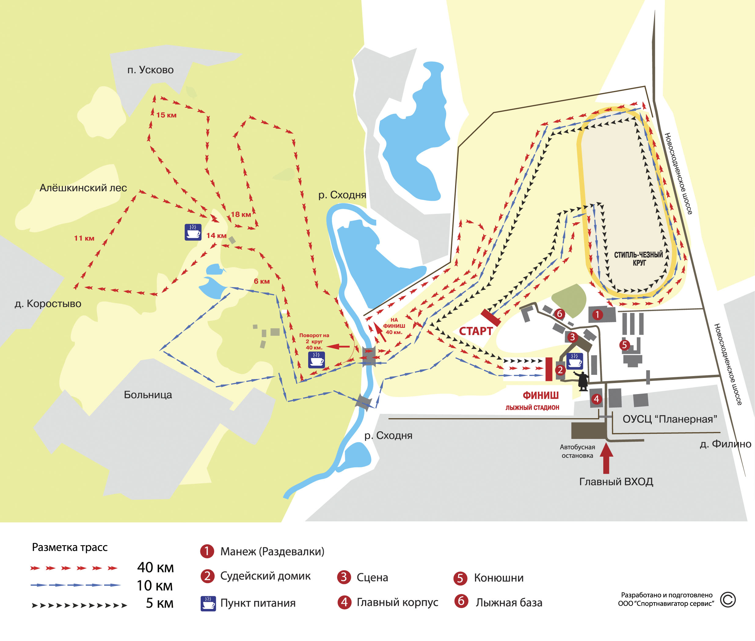 Схема трассы на планерной